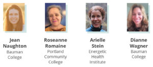 2020 Scholarship winners: Jean Naughton, Roseanne Romaine, Arielle Stein, Dianne Wagner